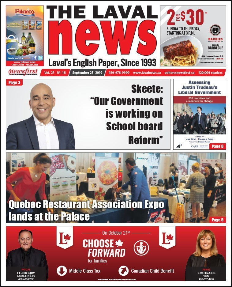 Front page of The Laval News Volume 27, Number 18