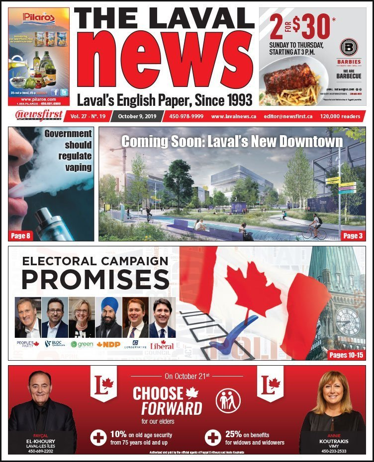 Front page of The Laval News Volume 27, Number 19