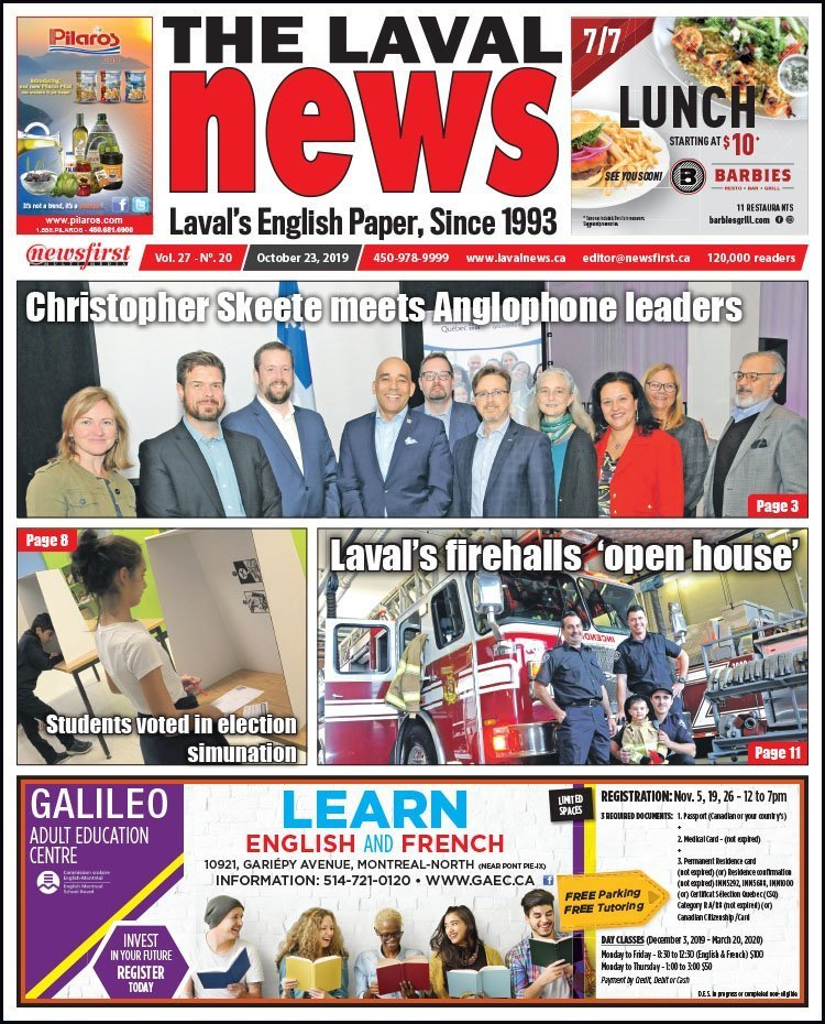 Front page of The Laval News Volume 27, Number 20