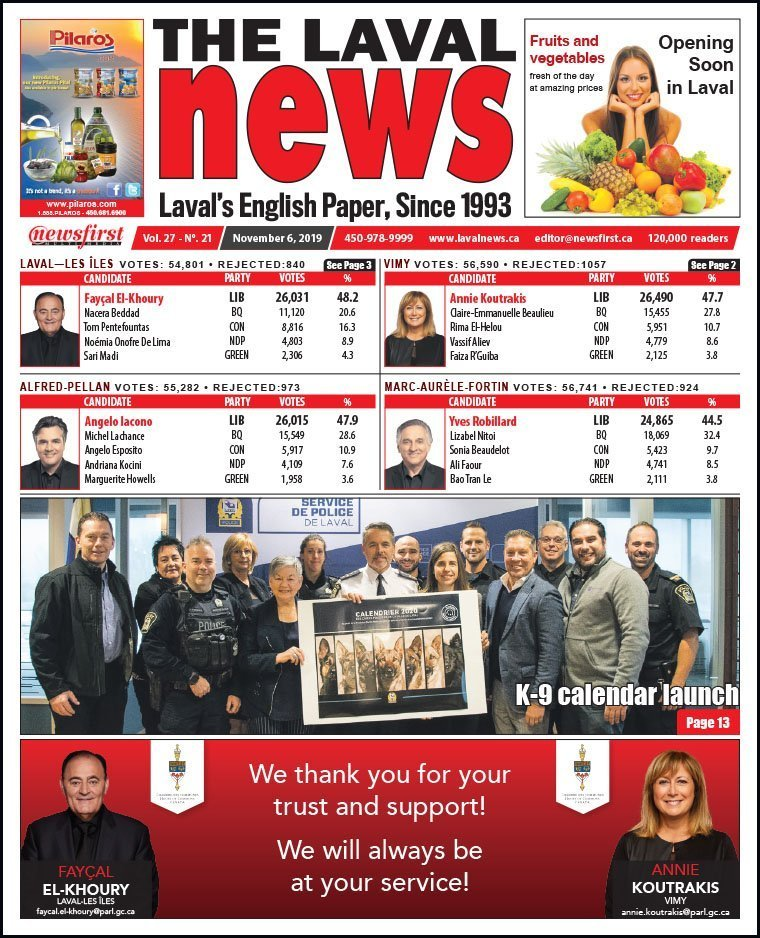 Front page of The Laval News Volume 27, Number 21