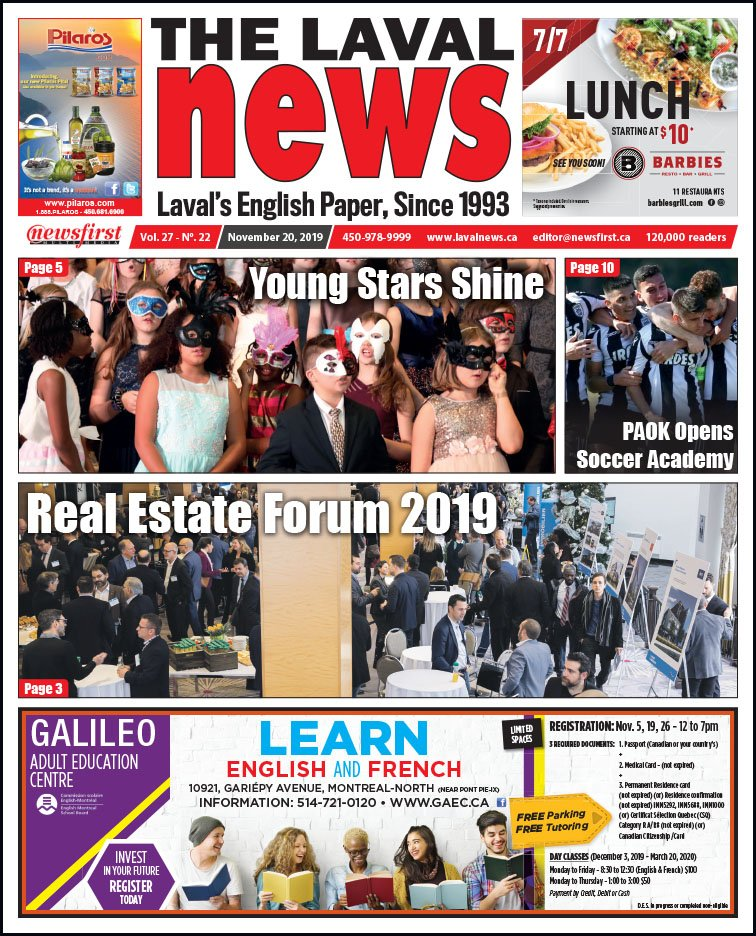 Front page of The Laval News Volume 27, Number 22