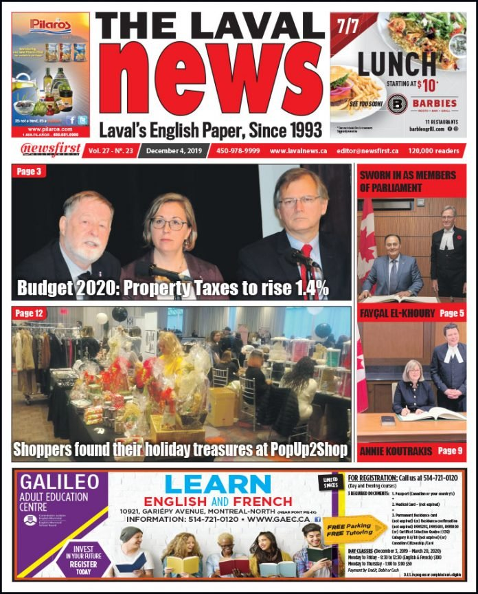 Front page of The Laval News Volume 27, Number 23