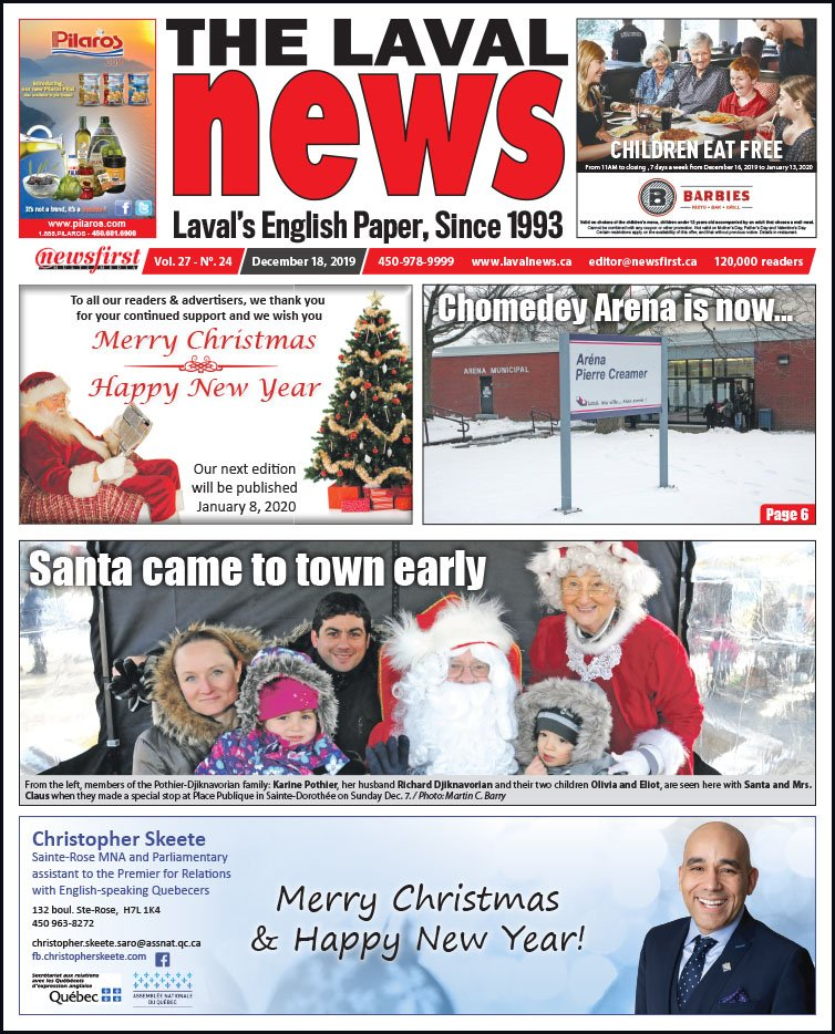 Front page of The Laval News Volume 27, Number 24
