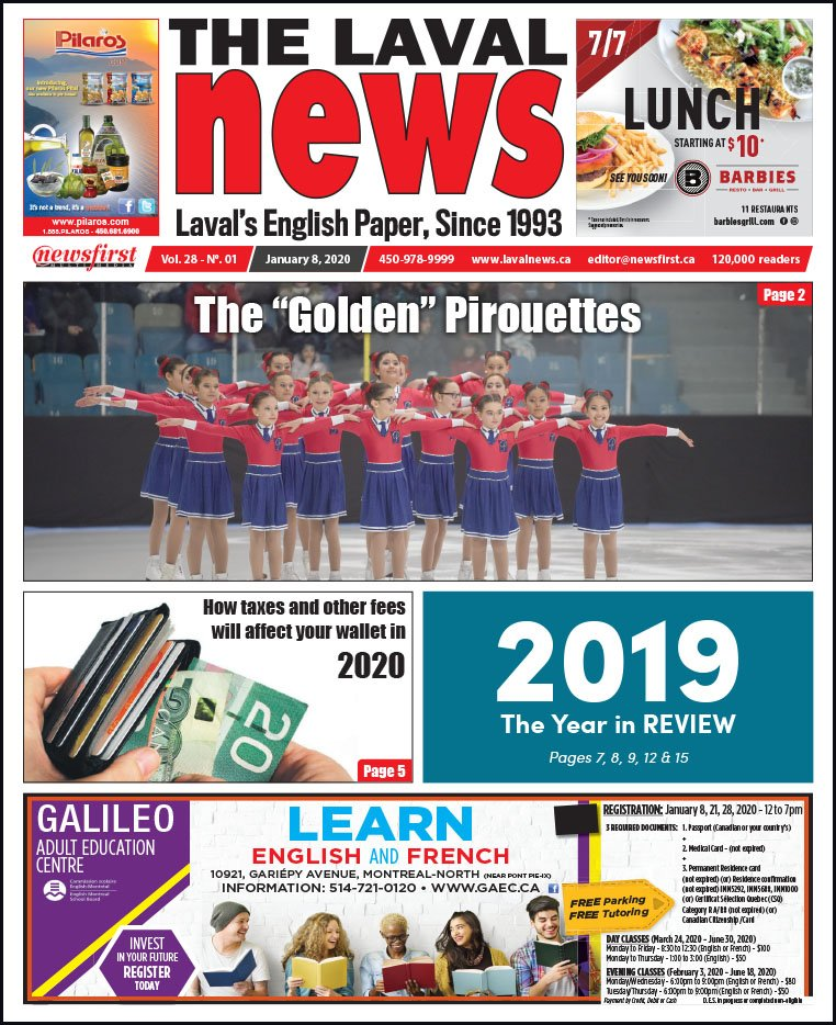 Front page of The Laval News Volume 28, Number 01