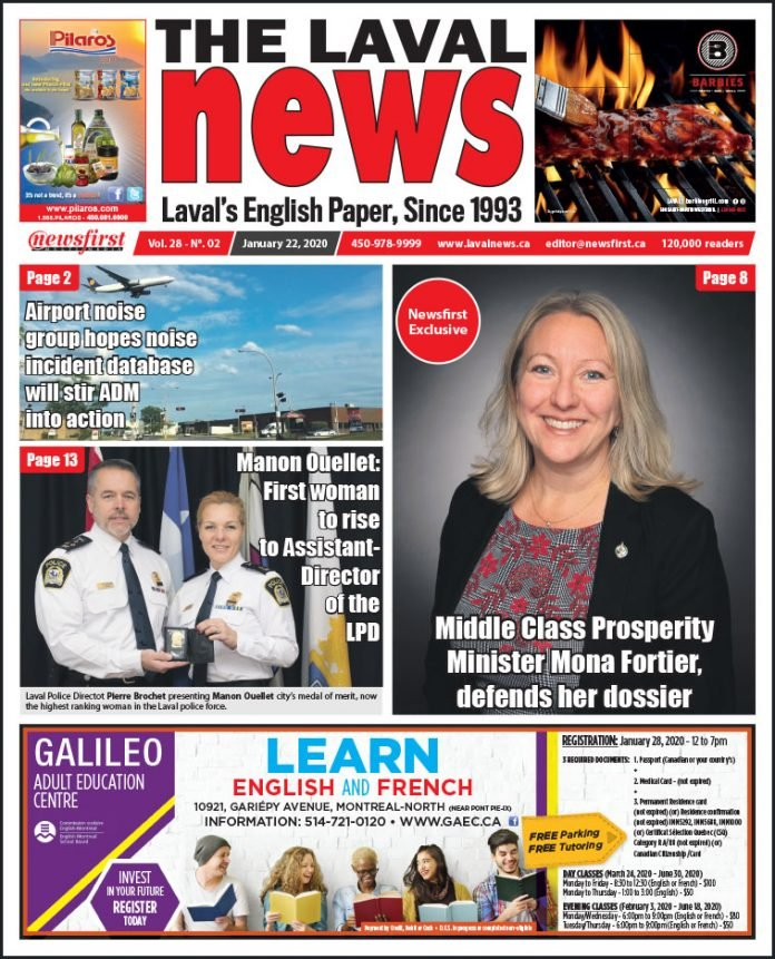 Front page of The Laval News Volume 28, Number 02