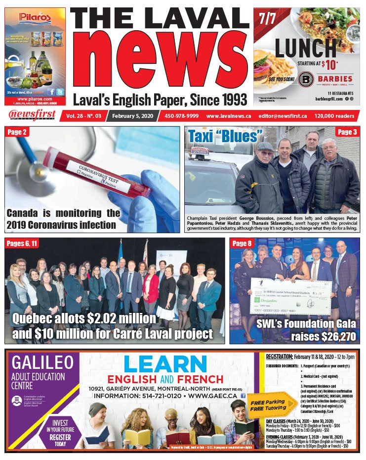 Front page of The Laval News Volume 28, Number 03