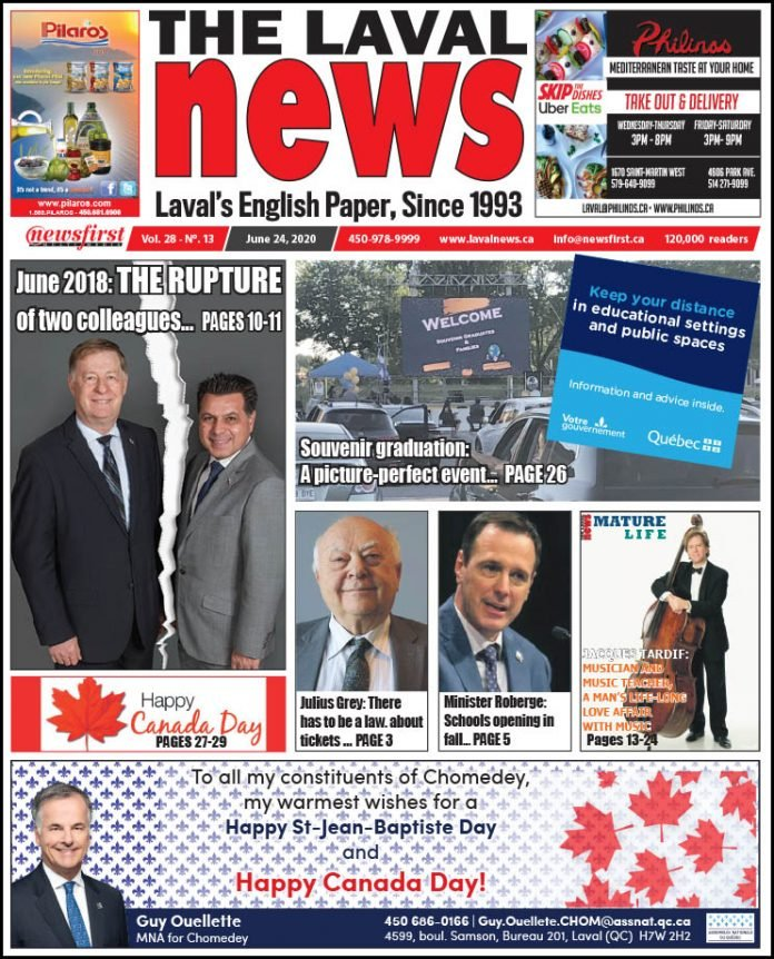 This weeks issue front page of the Laval News.