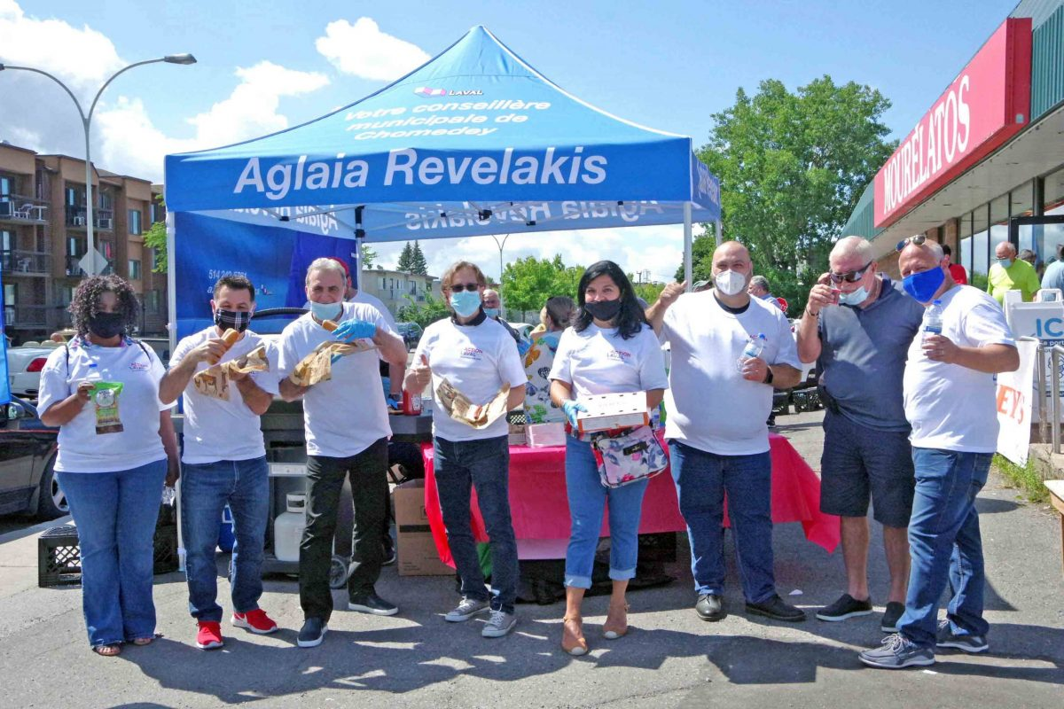 Hot dogs were on the menu at Aglaia Revelakis' summer BBQ event