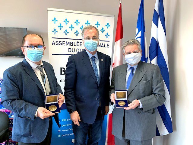 Laval News co-publishers presented with National Assembly Medals