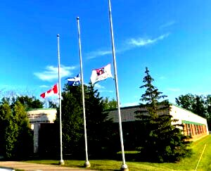 SWLSB flags kept at half-mast for 215 hours in memory of Indigenous victims