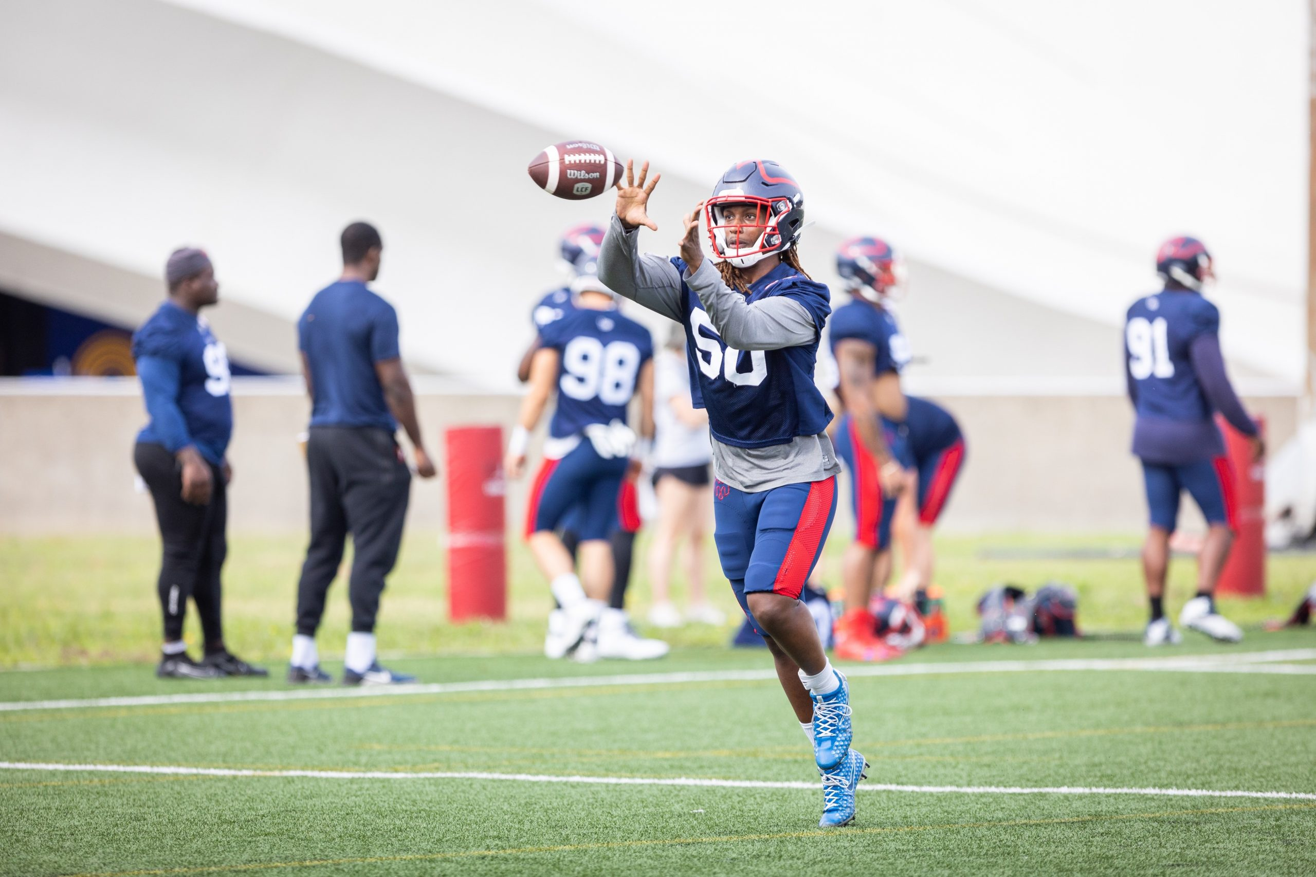 Alouettes linebacker Brian Harelimana learned to love football in Laval